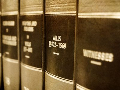 Close up of law books