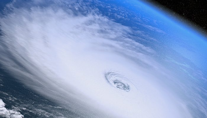 image of hurricane from space